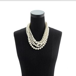 J.Crew Twisted Hammock Pearl Necklace